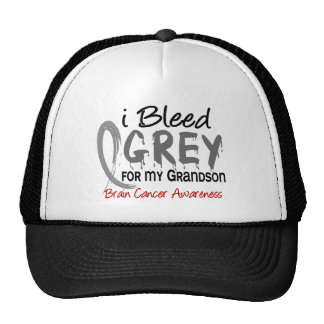 I Bleed Grey For My Grandson Brain Cancer Cap