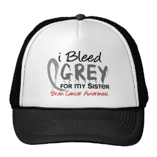 I Bleed Grey For My Sister Brain Cancer Mesh Hats