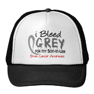 I Bleed Grey For My Son-In-Law Brain Cancer Trucker Hat