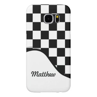 I Bleed Racing Check Black White Checkered Custom Samsung Galaxy S6 Cases