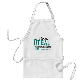 I Bleed Teal For My Daughter Ovarian Cancer Standard Apron