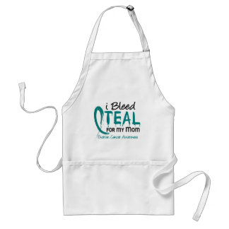 I Bleed Teal For My Mom Ovarian Cancer Standard Apron