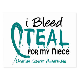 I Bleed Teal For My Niece Ovarian Cancer Postcard