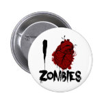 i bloody heart zombies pinback button