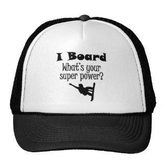 I Board (Snowboard) What's Your Super Power? Mesh Hat