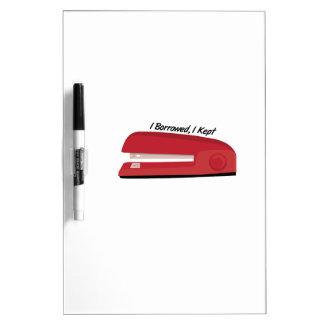 I Borrowed Dry-Erase Whiteboards