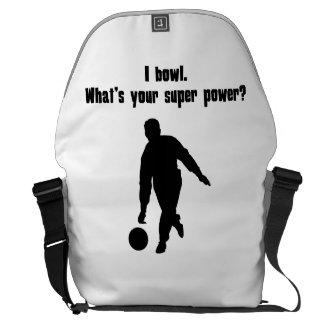 I Bowl What s Your Super Power Messenger Bag