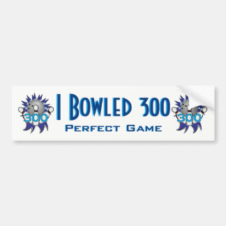 I Bowled 300 Perfect Game Bumper Sticker