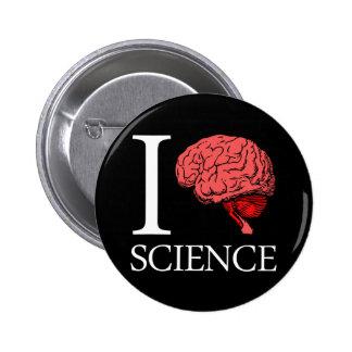 I Brain Science (I Know science) (I Love Science) 6 Cm Round Badge