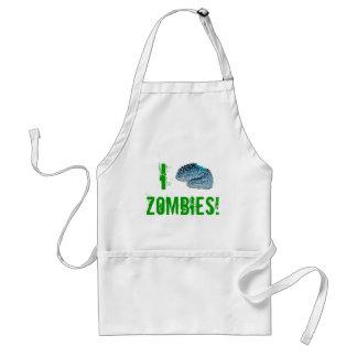 I Brain Zombies Standard Apron