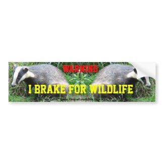 I Brake For Animals car bumper sticker
