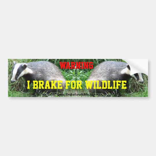 I Brake For Animals car bumper sticker