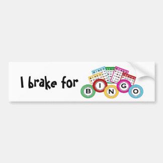 I brake for Bingo Bumper Sticker