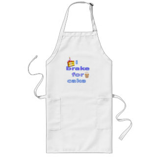 I brake for cake long apron
