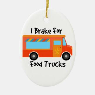 I Brake For Foof Trucks Christmas Ornament