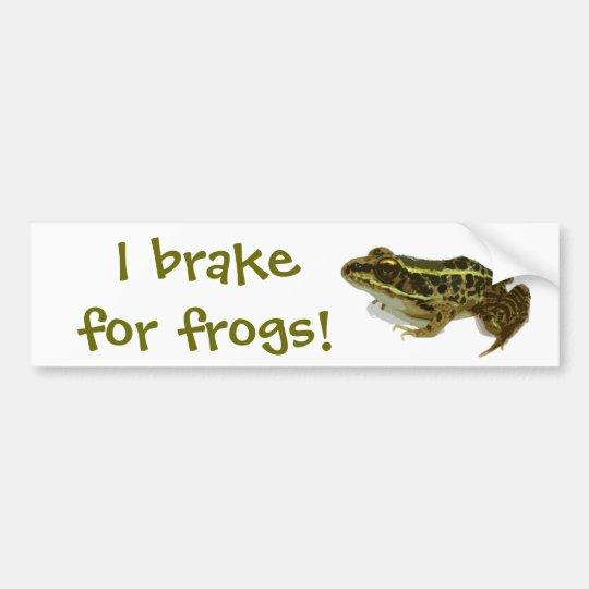 I Brake for Frogs! Bumper Sticker