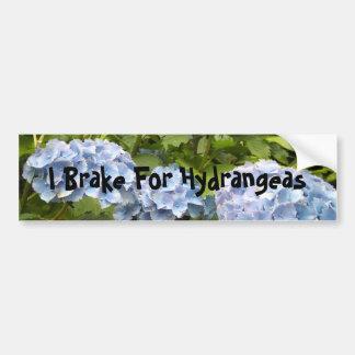 I Brake For Hydrangeas Bumper Stickers