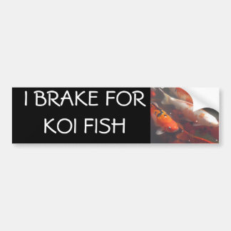 I BRAKE FOR KOI FISH BUMPER STICKER
