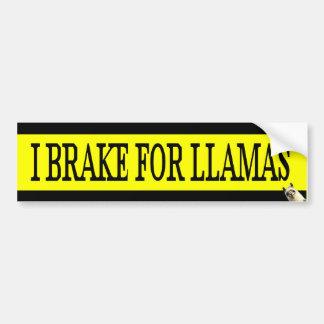 I Brake For LLAMAS Bumper Sticker