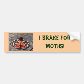 I BRAKE FOR MOTHS bumper sticker