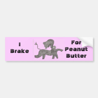 I Brake For Peanut Butter Bumper Sticker
