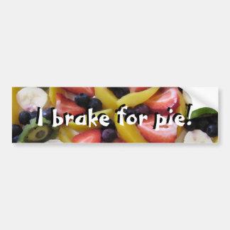 I Brake For Pie! Bumper Sticker