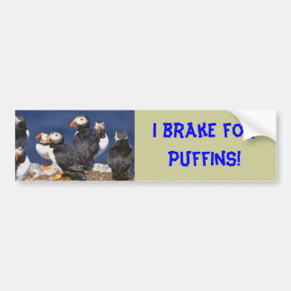 I brake for Puffins bumper sticker