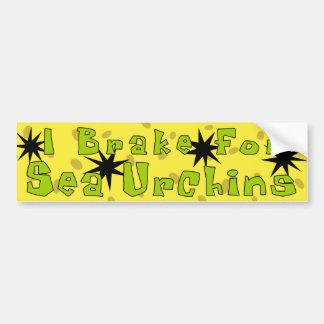 """I Brake For Sea Urchins"" Bumper Stickers"