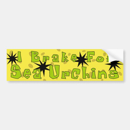 """I Brake For Sea Urchins"" Bumper Sticker"