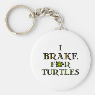 I Brake For Turtles 1 Basic Round Button Key Ring