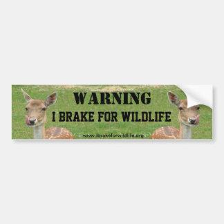 I Brake For Wildlife bumper sticker