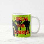 I Break for Zombies Black Silhouettes Classic White Coffee Mug
