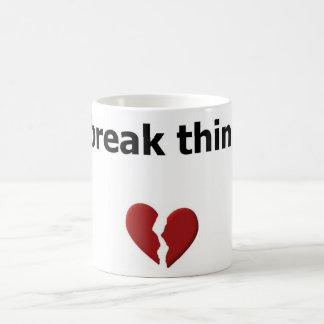 I break things basic white mug