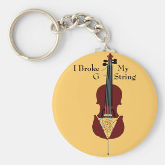 I Broke My G String (Cello) Key Ring