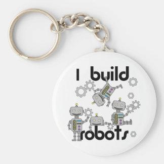 I Build Robots Basic Round Button Key Ring