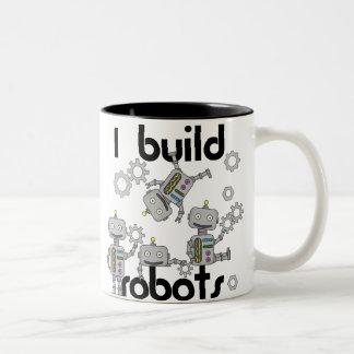 I Build Robots Two-Tone Mug