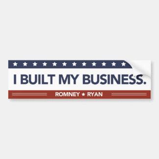 I Built My Business Bumper Sticker Red White Blue