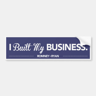 I Built My Business Dark Blue Bumper Sticker