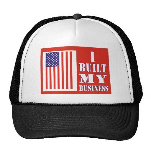 I Built My Business Political Flag Hat