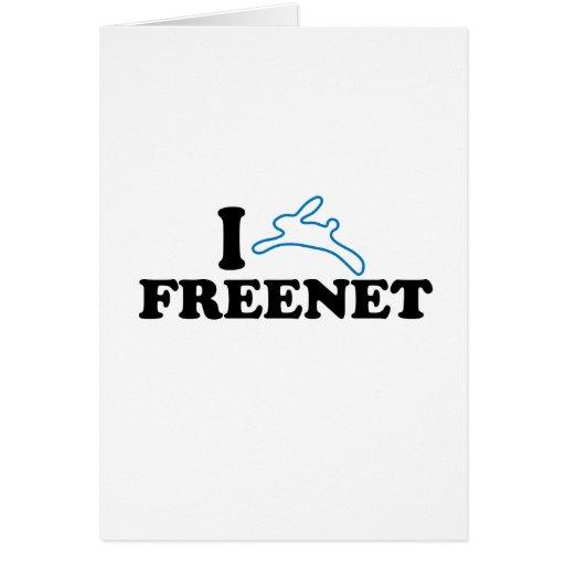 I Bunny Freenet Greeting Cards