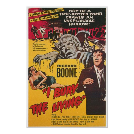 I Bury The Living Horror Movie Poster