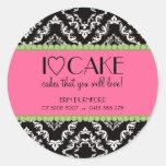 I ♥ Cake Business Stickers