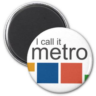 I Call It Metro Refrigerator Magnet