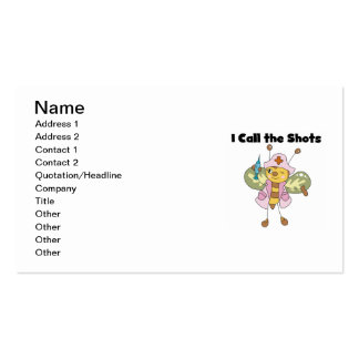 I Call the Shots Nurse T-shirts and Gifts Business Card Templates
