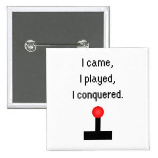 I Came I Played 15 Cm Square Badge