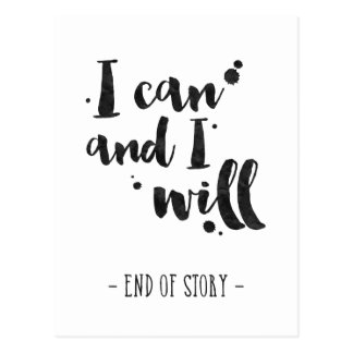 I Can And I Will - Inspirational Card Postcard