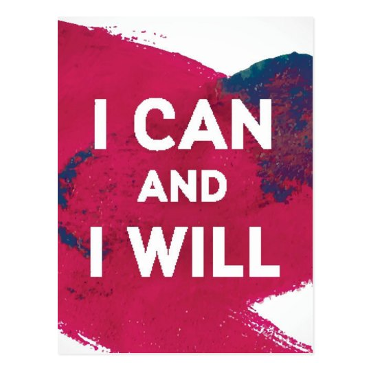 I Can and I Will Postcard