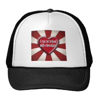 I can be bribed with chocolate! mesh hat