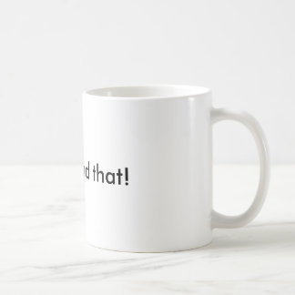 I can bead that! basic white mug