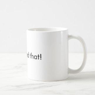 I can bead that! basic white mug